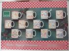 NIB Complete 12 Days of Christmas Mugs Set 222 Fifth NEW Stoneware