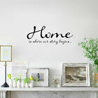 Home Is Where Our Story Begins Art Mural Wall Quote Sticker Decals Inspiration
