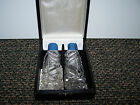 Vintage American Cut Crystal Corp Salt and Pepper Shakers in Box