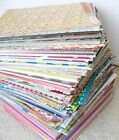 100 Sheets of 8 1 2 x 11 SCRAPBOOK PAPER Includes Cardstock Glitter Textured