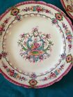 Set 8 Antique Royal Cauldon England  Pink Fine China Dinner Plates + 1 Plate