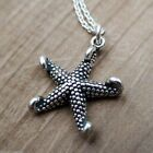 Starfish Charm Necklace 925 Sterling Silver NEW Beach Ocean Sea Nautical