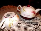 Dayspring Isaiah  62:4  3 pc Flowered teapot with Lid  Cup bottom  NWT