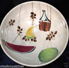 ROYAL SEALY JAPAN HAND PAINTED JAMAICA JAMAICAN PUNCH BOWL 3.5 QUARTS FRUIT