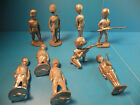 British Soldiers Standing Attention Marching Kneeling lead figures new 9pcs C16