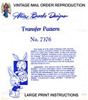 7376 RARE Boy & Girl Bunny Rabbits Sewing Pattern - Alice Brooks Easter