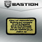 TACTICAL COMBAT BADGE MORALE VELCRO MILITARY PATCH JOSHUA 1:9 ACU