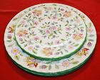 7pc Minton Haddon Hall Porcelain Plates; Hand Painted Multicolored Floral