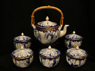 MARKED Fukagawa Sei JAPANESE SHOWA IMARI YAKI FUKAGAWA TEA POT & COVERED CUP SET