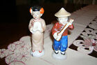 VINTAGE PAIR OF JAPANESE MAN PLAYING GUITAR & WOMAN FIGURINES MADE IN JAPAN 4