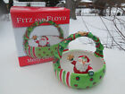 Fitz and Floyd Essentials Merry Christmas Basket with Santa   EUC