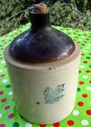 ANTIQUE WESTERN STONEWARE CROCK JUG~TWO TONED