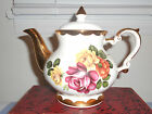 VINTAGE***GIBSON**STAFFORDSHIRE ENGLAND TEAPOT***ROSES TIFFANY***