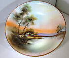 VINTAGE NORITAKE  HAND PAINTED SCENIC BOWL GREEN STAMP