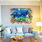 3D ocean dolphins home Decor Removable Wall Sticker/Decal/Decoration xy