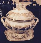 Spode China Soup Tureen W/ Tray~Golden Valley Pattern. Mint Condition.