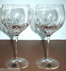 Waterford Lismore Essence Balloon Crystal Wine Glass Pair (2) #143784 New