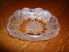 Vintage Cut glass Saw Tooth Rolled Edge Candy Serving Dish