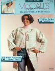 Pattern Leaflet BEGIN WITH A PLACEMAT McCall's 1993 sew a collar vest or jacket