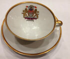 Vintage  Bavaria Largerle Gold Trimmed Teacup & Saucer Hamburg German Crest