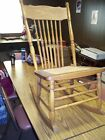 ANTIQUE CANE SEAT OAK SEWING ROCKING CHAIR