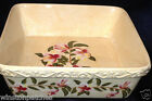TEMP-TATIONS MAGNOLIA SQUARE BAKER 2 QUARTS FLOWERS WITH GREEN LEAVES ON YELLOW