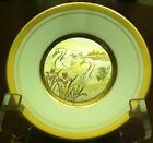 VINTAGE PORCELAIN  PLATE 24 K GOLD EDGED  THE ART OF CHOKING   JAPAN  ''SWANS.''