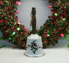 VTG  #Lefton China Christmas Holiday BOUGHS of HOLLY Porcelain Bell 00 239 JAPAN