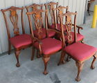 6 MAHOGANY CLAW BALL CHIPPINDALE DINING ROOM CHAIRS W/ 2 ARM CHAIRS