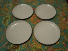Set of 4 WINTERLING BAVARIAN CHINA Salad Plates White Platinum Rim Vintage Cond!