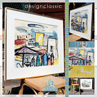 AQUARELL CITY & PEOPLE VINTAGE MID CENTURY MODERN WATERCOLOR ~ EDUARD BERGHEER
