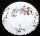 ANTIQUE HAVILAND LIMOGES PORCELAIN PAINTED TRANSFER DECORATED PLATE GILT ROSE 5