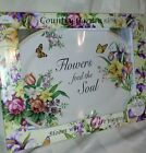 COUNTRY GARDEN PLATTER LILY CREEK FLOWERS PLATE SERVING DINNING SPRING LARGE