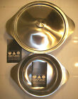 NEW VINTAGE GENSE SWEDISH STAINLESS STEEL COVERED BOWL with matching bowl