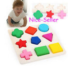 Newest Promotion Wooden 9Shapes Colorful Puzzle Toy Baby Educational Bricks Toy