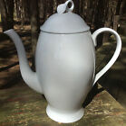 MIKASA Classic Flair White DISCONTINUED Coffee Pot NEVER USED Calla Lilies K1991