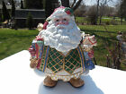 FITZ and FLOYD Santa Jolly Ole St Nick Cookie Jar Decorative Christmas Holiday