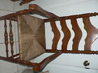 Antique Vintage Shaker Cane Chair Ladder Back Captain Arm