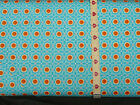 Red Rooster Fabrics,3962,Yippee Daisies pattern 21021.Color: blue.dots SALE!