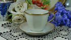 Theodore Haviland Limoges Sheraton Demitasse Tea Cup & Saucer White & Gold