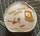 RARE Vintage Childrens Ding Dong School Round Pink Suitcase By Neevel 7 Inch