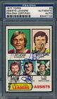 1977 78 Topps #2 Assists Leaders PSA DNA Certified Authentic Auto *7133