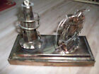 Copper Tin Revolving Lighthouse Pirate Ship Sails Music Box Plays Beyond The Sea