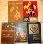 5 Boy Scout & Cub Scout Books 1940s 50s 60s Cubmaster Handbook Scoutmasters MORE
