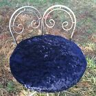 Velvet Art Deco Vanity Stool Seat Early Vintage Hollywood Regency Metal Adjust