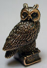 Tiny Solid Bronze Owl by N.Fedosov.