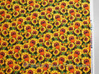 Sunflower Floral Garden Harvest Collage BY YARDS Blank Quilting Cotton Fabric