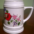 Kalocsa hand-painted HUGE beer stein mug Hungary vintage! Excellent condition!