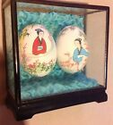 Hand Painted Japanese Eggs In Display Case