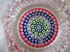 Whitefriars Millefiori Paperweight P9 Window and Mitre cut 1971 Cane